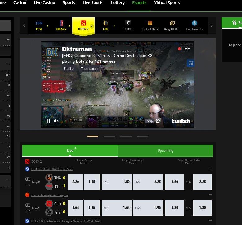 E-Sport-Auswahl - DOTA2-Turniere